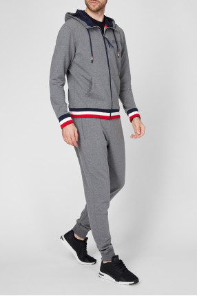 Мужской серый спортивный костюм (худи, брюки) 1