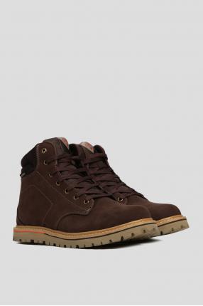 Мужские коричневые кожаные ботинки 1