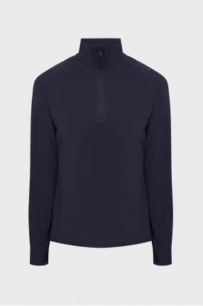 Женская темно-синяя спортивная кофта
