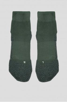 Мужские зеленые носки для бега