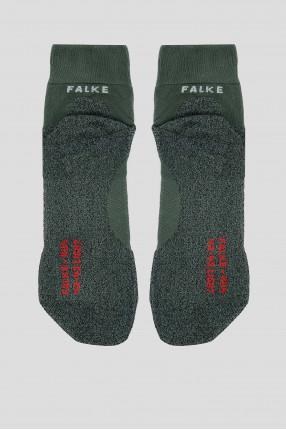 Мужские зеленые носки для бега 1