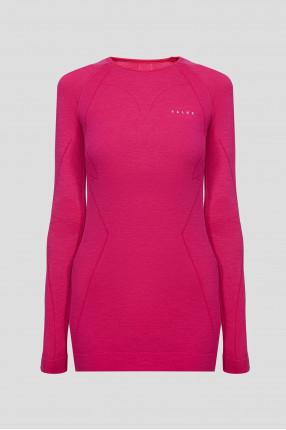 Женский розовый шерстяной термореглан