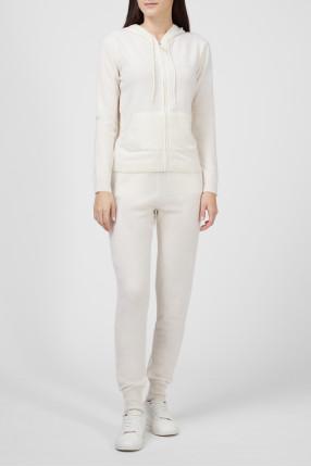 Женский белый кашемировый костюм 1