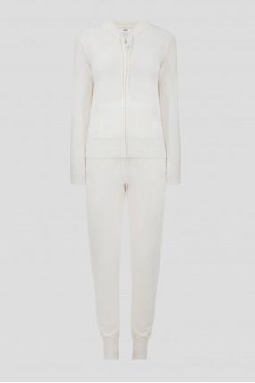 Женский белый кашемировый костюм