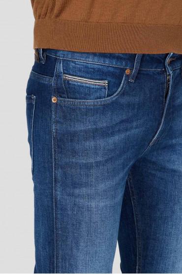 Мужские синие джинсы 4