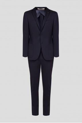 Мужской темно-синий костюм (пиджак, брюки)