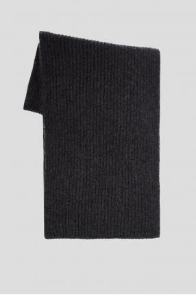 Мужской темно-серый кашемировый шарф