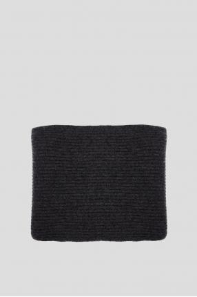 Мужской темно-серый кашемировый шарф 1