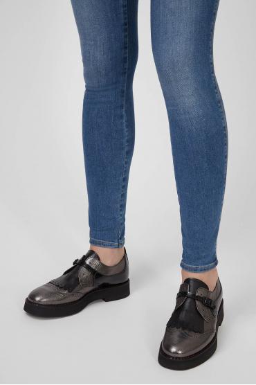 Женские кожаные монки 6