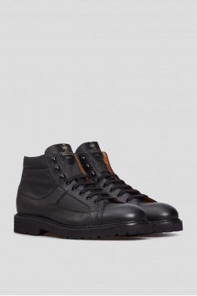 Мужские черные ботинки 1