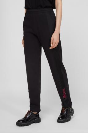 Женские черные спортивные брюки 1