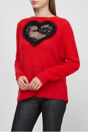 Женский красный свитер 1