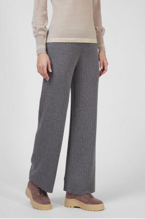 Женские серые шерстяные брюки 1