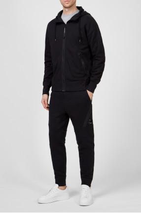 Мужской черный спортивный костюм (худи, брюки) 1