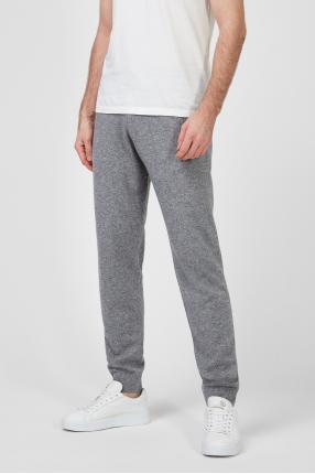 Мужские серые шерстяные спортивные брюки 1