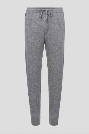 Мужские серые шерстяные спортивные брюки