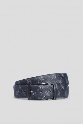 Мужской темно-синий кожаный ремень