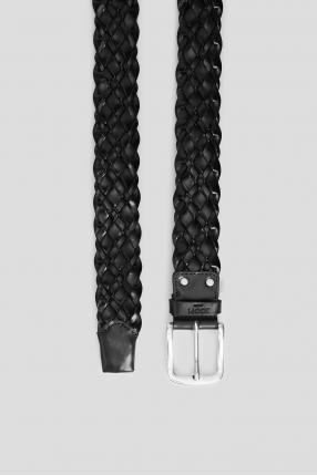 Мужской черный кожаный ремень 1