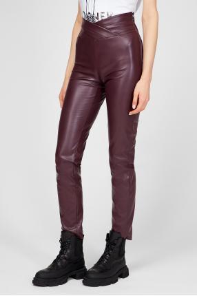 Женские бордовые брюки 1