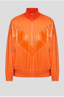 Женская оранжевая ветровка