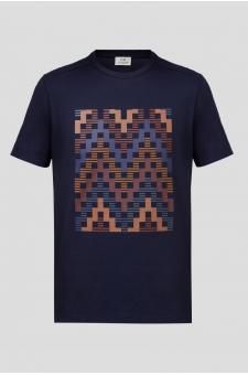 Чоловіча темно-синя футболка