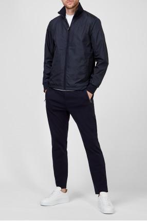 Мужской темно-синий спортивный костюм (ветровка, брюки) 1