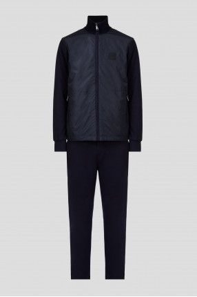 Мужской темно-синий спортивный костюм (ветровка, брюки)