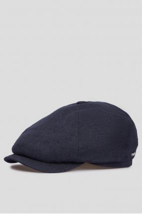 Мужское темно-синее льняное кепи 1