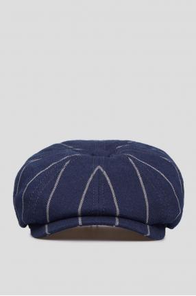 Мужское темно-синее кепи с узором