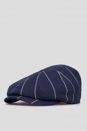 Мужское темно-синее кепи с узором 1