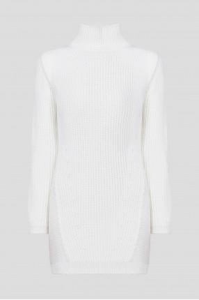Женское белое шерстяное платье