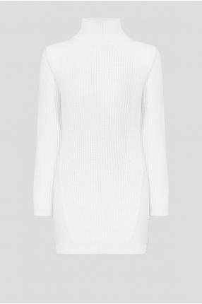 Жіноча біла вовняна сукня