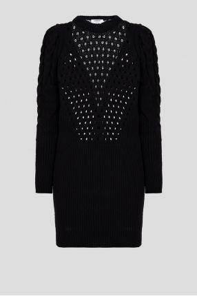 Жіноча чорна вовняна сукня