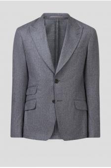 Мужской серый шерстяной пиджак