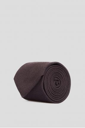 Мужской коричневый шелковый галстук