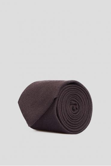 Мужской коричневый шелковый галстук 1