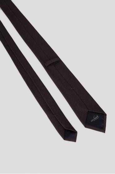 Мужской коричневый шелковый галстук 3