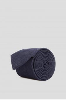 Мужской темно-синий шелковый галстук