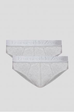 Мужские серые брифы (2 пары)