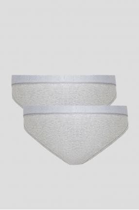 Мужские серые брифы (2 пары) 1