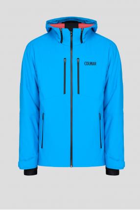 Мужская голубая лыжная куртка