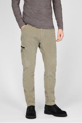 Мужские оливковые вельветовые брюки 1