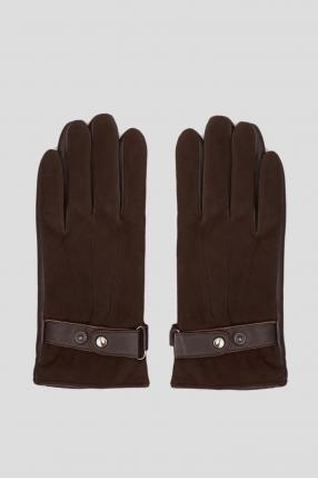 Мужские темно-коричневые перчатки