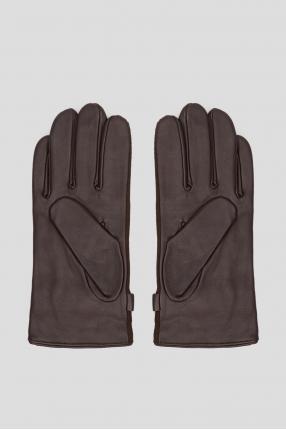 Мужские темно-коричневые перчатки 1