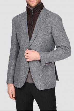 Мужской серый пиджак 1