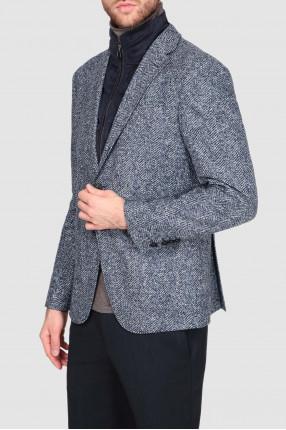 Мужской синий пиджак 1