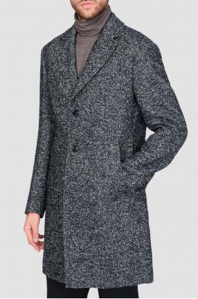 Мужское синее пальто 1