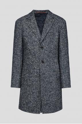 Мужское синее пальто
