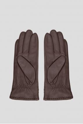 Мужские темно-коричневые кожаные перчатки 1