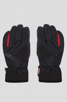 Мужские черные лыжные перчатки